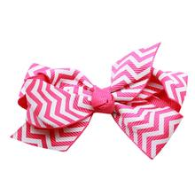 Chevron Dog Barrette - Bright Pink