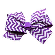 Chevron Dog Barrette - Purple
