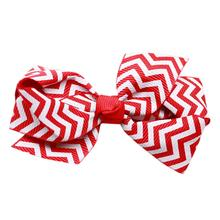Chevron Dog Barrette - Red
