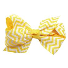 Chevron Dog Bow - Yellow