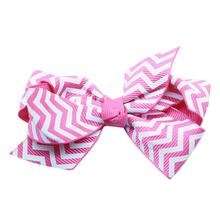 Chevron Dog Bow - Light Pink