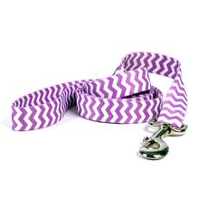 Chevron Dog Leash by Yellow Dog - Grape