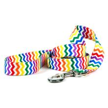 Chevron Dog Leash by Yellow Dog - Candy Stripe