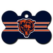 Chicago Bears Engravable Pet I.D. Tag - Bone