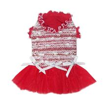 Christina Party Dog Dress - Red