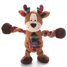 Christmas Reindeer Pulleez Dog Toy