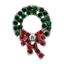 Christmas Slider Dog Collar Charm - Wreath