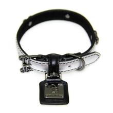 Chrome Black Diamonds Dog Collar by Chrome Bones