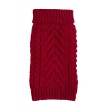 Chunky Turtleneck Dog Sweater - Red