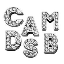 Clear Bling Lettering Slider Charms from A-Z - 18MM