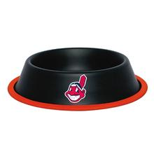Cleveland Indians Dog Bowl - Black