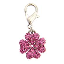 Clover D-Ring Pet Collar Charm by FouFou Dog - Pink