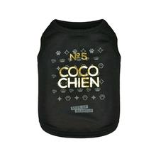 Coco Chien No 5 Dog Hoodie by Dogs of Glamour - Black