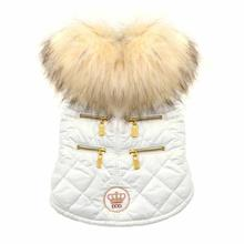 Coco Quilted Dog Jacket by Dogs of Glamour - White