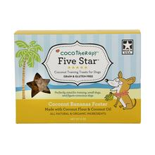 CocoTherapy Five Star Coconut Training Dog Treat - Bananas Foster