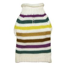 Colorful Stripes Dog Sweater by Dogo - Blue