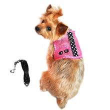 Cool Mesh Dog Harness Under the Sea Collection - Sunglasses Pink and Black Polka Dot