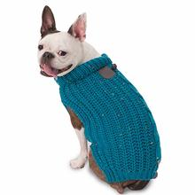 Corbin's Cable Dog Sweater - Teal