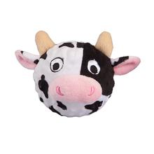 Country Critter Faballs Dog Toy - Cow