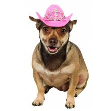 Cowboy Princess Hat Dog Costume - Pink