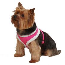 Cozy Sherpa Dog Harness by East Side Collection - Raspberry