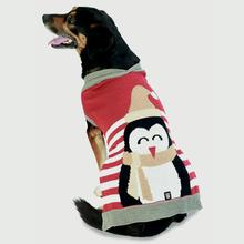 Crispin's Penguin Stripe Dog Sweater - Red
