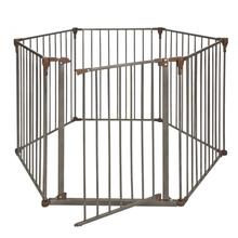 Crown Convertible Pet Yard and Gate - Bronze/Dark Brown
