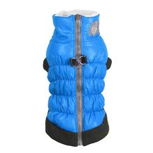 Crown Scrunchy Puffer Dog Vest by Hip Doggie - Blue