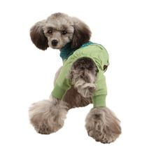 Crayon Hooded Dog Jumpsuit by Puppia - Green