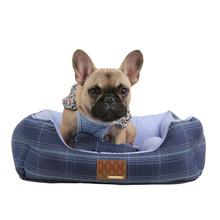 Cyberspace Dog Bed by Puppia - Navy