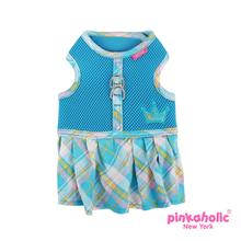 Dainty Flirt Dog Harness Dress by Pinkaholic - Blue