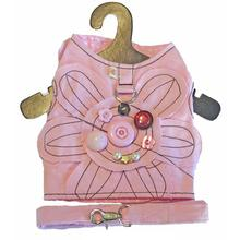 Daisy Buttons Harness Vest w/ Leash