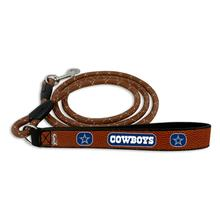 Dallas Cowboys Frozen Rope Leather Dog Leash