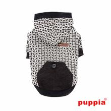 Damier Dog Hoodie by Puppia - Black