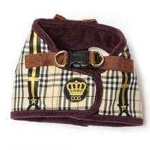 Dapper Boy Suspenders Dog Harness by Dogs of Glamour - Brown