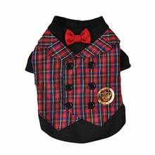 Dapper Vest Dog Shirt by Dogs of Glamour - Plaid