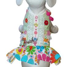 Darlin' Daisy Dog Harness Dress - Green