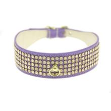 Deluxe 5-Row Crystal Dog Collar - Lavender