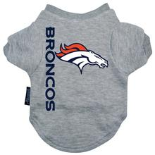 Denver Broncos Dog T-Shirt - Gray