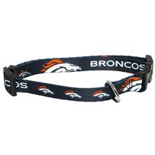 Denver Broncos Football Printed Dog Collar - Navy