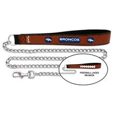 Denver Broncos Leather Dog Leash