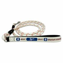 Detroit Tigers Frozen Rope Leather Dog Leash
