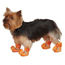 Dino Dog Slippers - Orange