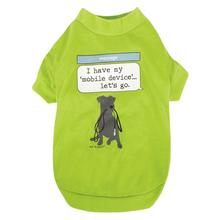 Dog is Good Mobile Device Dog T-Shirt - Green