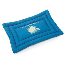 Dog is Good No Bed too Small Dog Mat - Blue
