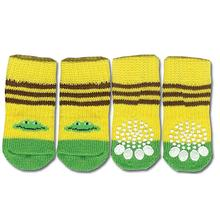 Doggy Socks - Yellow & Green Frog