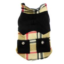 Doggy Wrappers Double Fleece Dog Coat - Camel Plaid