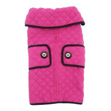 Doggy Wrappers Microfiber Quilted Dog Coat - Pink