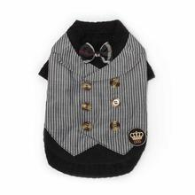 Dapper Vest Dog Shirt by Dogs of Glamour - Black