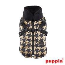 Dogstooth Fleece Dog Vest by Puppia - Black